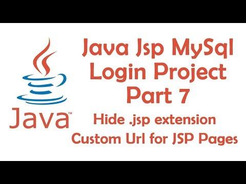 Hide .jsp extension,Custom Url for JSP Pages-Java Jsp MySql login Project Part 7