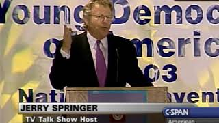 Jerry Springer on giving tax breaks to the poor and middle-class instead of the wealthy (like Bush)