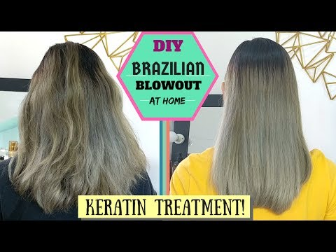 HOW TO: KERATIN TREATMENT At Home | DIY Brazilian Blowout | Lolly Isabel