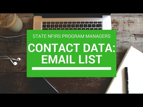 Email lists: Contact Database