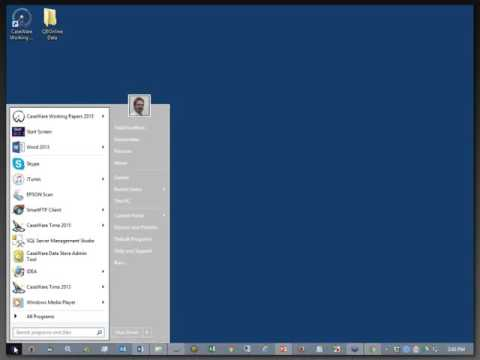 Importing From QuickBooks Online Into Working Papers - System Setup