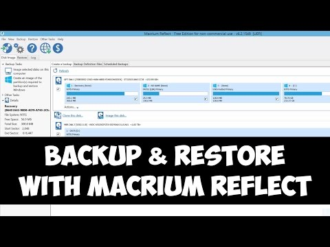 Backup and restore Windows with Macrium Reflect
