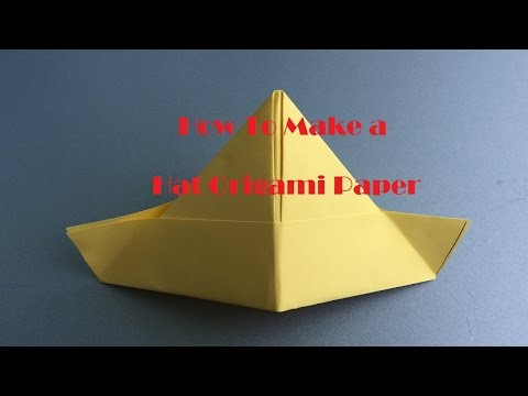 How to Make an Origami Beautiful Hat Paper Fast and Easy