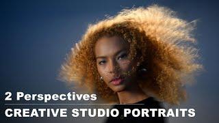 Creative studio portrait session