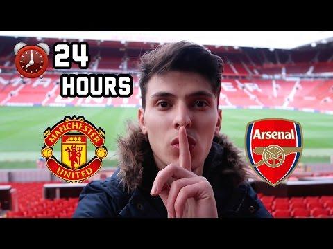 SLEEPING OVERNIGHT In Manchester United Football Stadium!