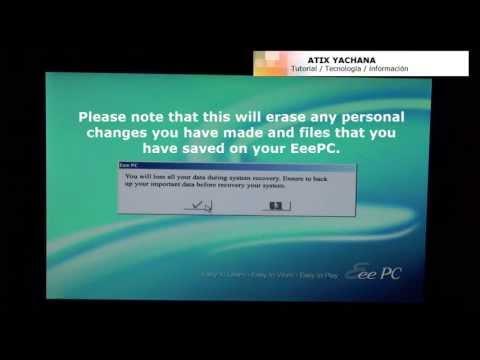 Asus Eee PC Netbook Restore - 1005HAB Netbook