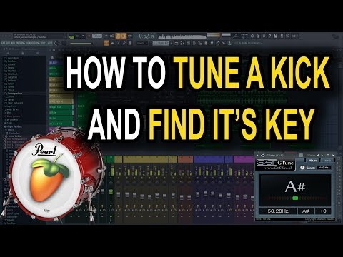 How to tune a kick drum and find it's key in FL Studio