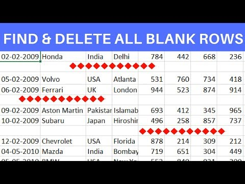 Find and Delete Blank Rows in Excel