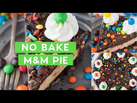 No Bake M&M Pie