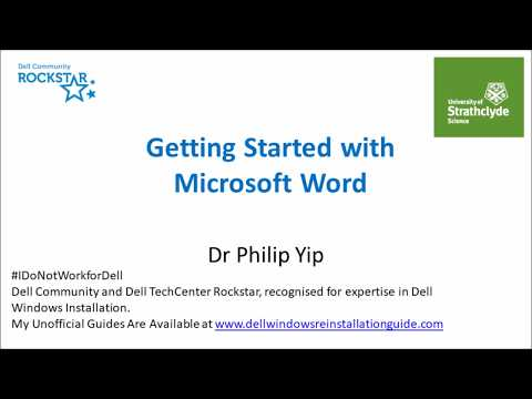 Getting Started with Microsoft Word - Document Structure and Word Basics