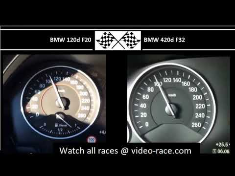 BMW 120d F20 VS. BMW 420d F32 - Acceleration 0-100km/h
