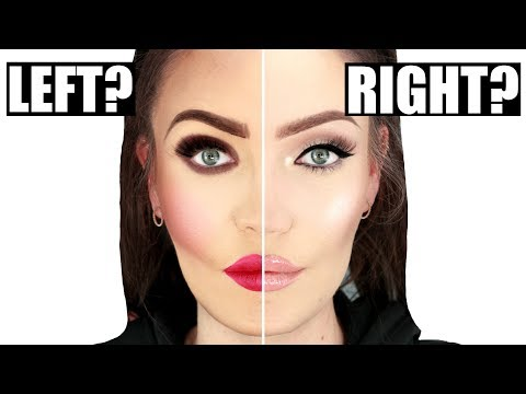 Can YOU Tell Which Side Is Wearing More Makeup?