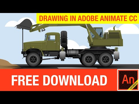 Truck Drawing in Adobe Animate CC (FREE Download)