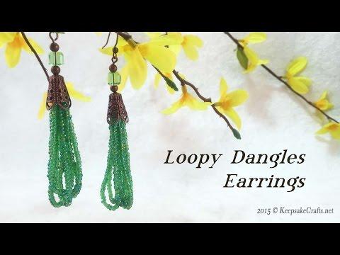 Loopy Dangles Earrings Tutorial