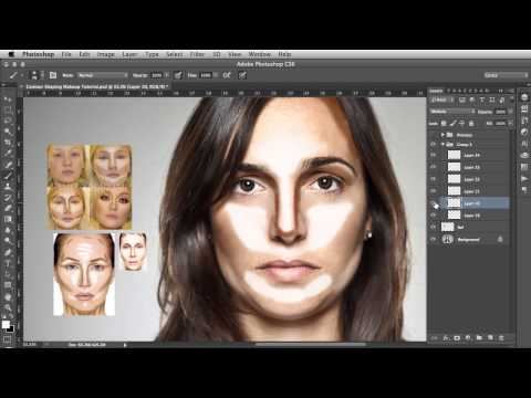 Contour Shaping - Photoshop Makeup Tutorial