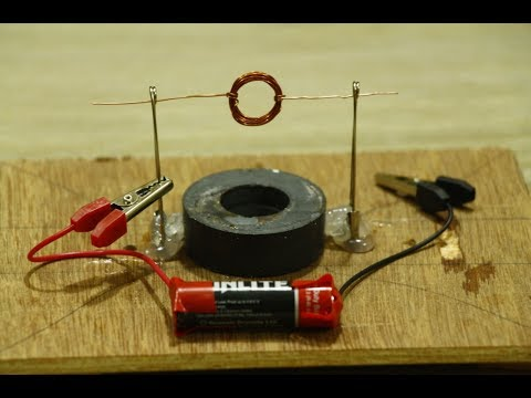 Make Spinning Homopolar Motor with magnet at Home - Science Fair Project