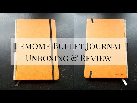 Lemome Bullet Journal | UNBOXING & REVIEW 2018 | Bujo on a Budget