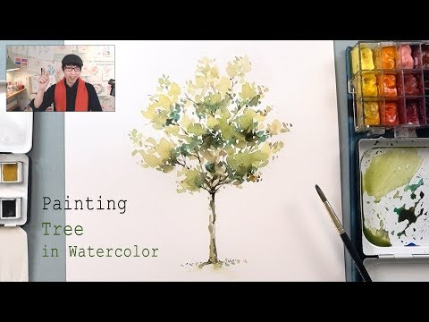 How to paint a tree in watercolor - Easy Step by step tutorial