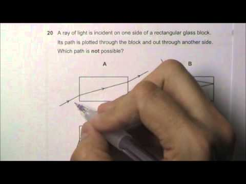 2009 O' Level Physics 5058 Paper 1 Solution Qn 16 to 20