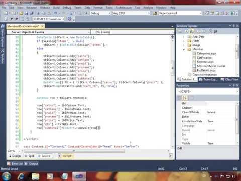 Shopping Cart Website ASP.NET And C# Language خدمة سلة المشتريات