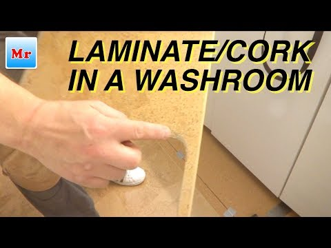 How to Install Laminate Cork Flooring in a Washroom and Walking Closet