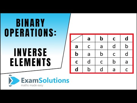 Inverse elements for Binary operations : ExamSolutions Maths Revision