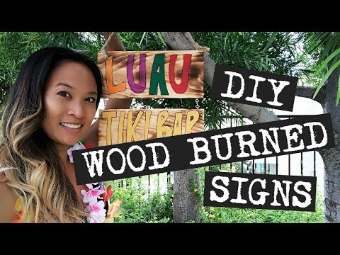 How to Make DIY Wood Burned Signs