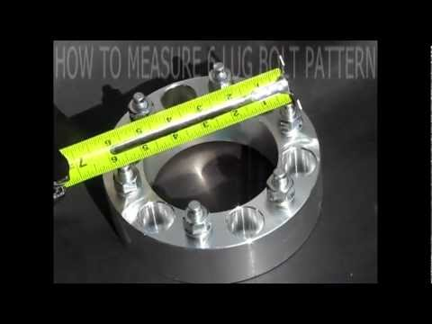 HOW TO MEASURE WHEEL6 LUG BOLT PATTERN  IN 25 SECONDS