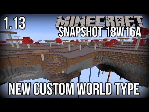 Minecraft Snapshot 18w16a - NEW 'Buffet' World Type (Floating Islands!) [Update Aquatic]