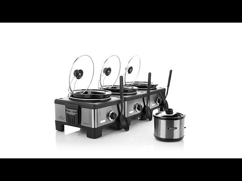 Bella Set of 3 Linkable 2.5Quart Slow Cookers