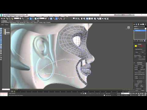Character Modeling Part 5 Filling the holes in the face
