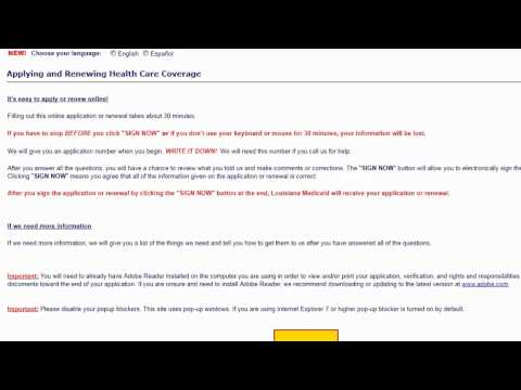 Medicaid Louisiana Part 1