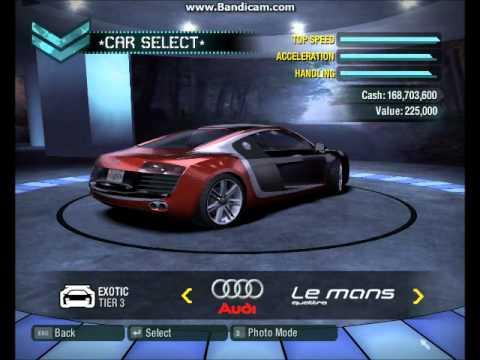 NFS CARBON bonus cars in career mode