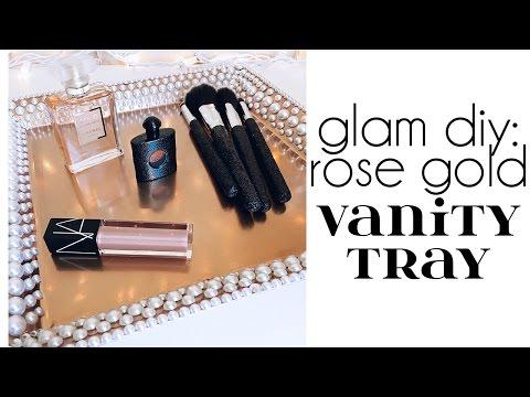 Glam DIY: Rose Gold Vanity Tray | Jenni Mares