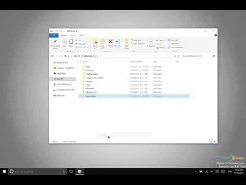 Windows 10 - Creating, Copying, Moving, and Renaming Files and Folders