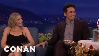 "James Franco & Ari Graynor On The Insane Sex Scenes In ""The Room""  - CONAN on TBS"