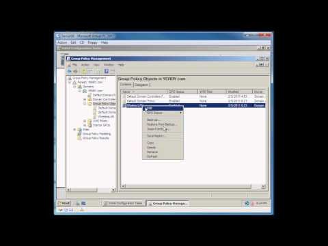 Creating a new Group Policy in Windows Server 2008 R2
