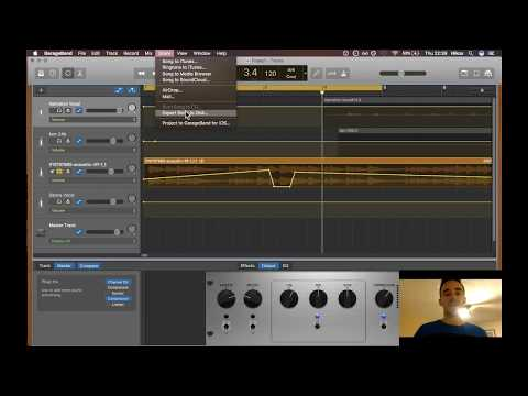 How to mix audio in GarageBand for a Podcast.