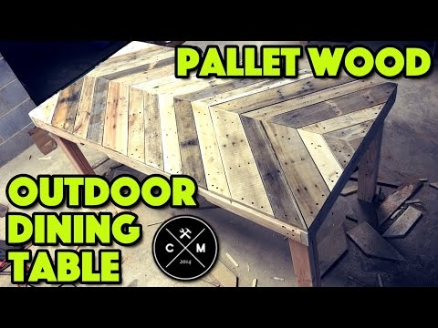 How To Build An Outdoor Dining Table From Pallet Wood DIY | Crafted Workshop