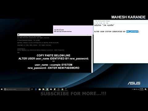 FIX :ORA-01017: invalid username/password; logon denied