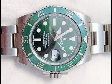 2013 Rolex Submariner Green Dial Ceramic Bezel Steel Watch 116610lv