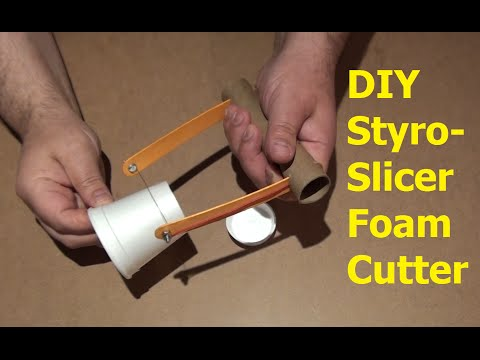 DIY Hot Wire Styro-Slicer  How to make a foam cutter