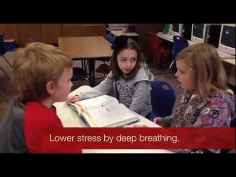 Ms. Regruth's students help each other deal with stress