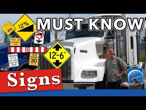 11 Top Road Signs for CDL Drivers | Truck Driving School