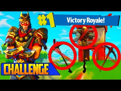 The NO PICKAXE CHALLENGE TILTED TOWERS WIN!! in Fortnite: Battle Royale!