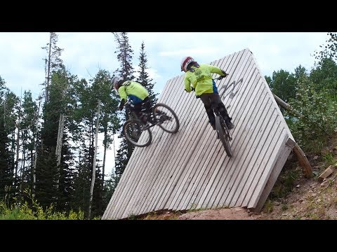 Park City Mountain Biking - 9 Year Old Twins Shred Park City Bike Park