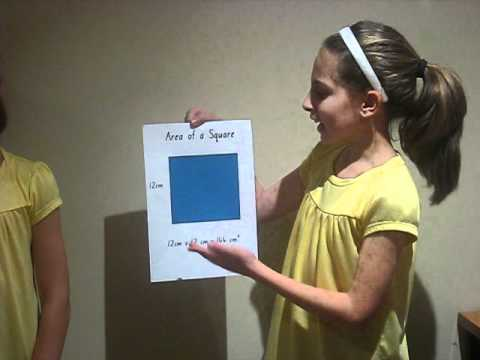 Finding The Area Of A Rectangle, Square And Triangle