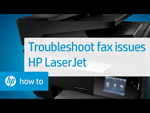 Fax Troubleshooting for HP LaserJet Printers