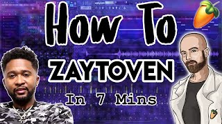 From Scratch: A Zaytoven Song in 7 Minutes FL Studio Trap Tutorial 2019