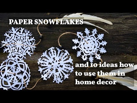 Christmas home decorations (paper snowflakes) - 10 cheap ideas
